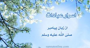 اسرار عبادات از زبان پيامبر صلى الله عليه وسلم